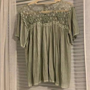 Beautiful lace & embroidered POL blouse sz sm NWOT